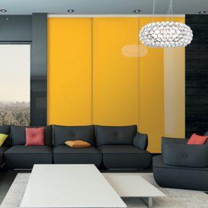 Portes-placard-Vitre-laquee-jaune